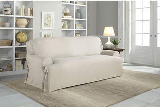 Serta Cotton Duck T-Cushion Sofa Slipcover