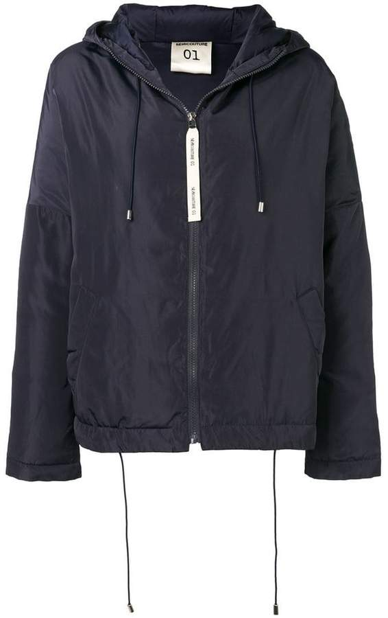 Semicouture hooded parka coat