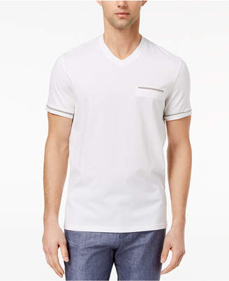 Ryan Seacrest Distinction Men's Slim-Fit Stripe V-Neck Pocket T-Shirt, Created for Macy's