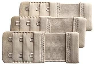 "Chanie Women Pack of 3 Soft Comfortable 2 Hooks Bra Extender,3.6""x 1.5"""