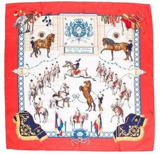 Hermes Real Escuela Andaluza Del Arte Ecuestre Silk Scarf