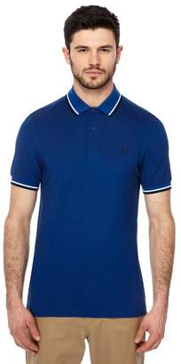 Fred Perry Blue Tipped Embroidered Logo Polo Shirt