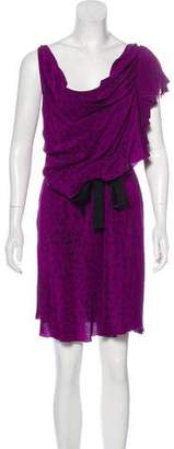 Gryphon Patterned Silk Dress