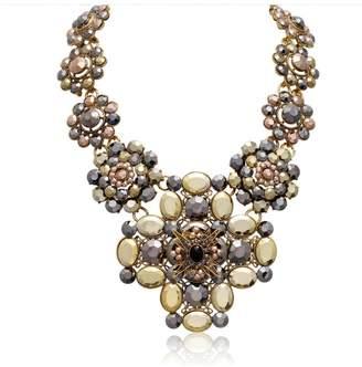 Passiana Metallic Floral Necklace