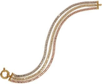 Imperial Gold 7-1/4 Wheat Tri-Color Bracelet, 14K Gold, 15.8g