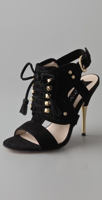 Boutique 9 Commons Suede Lace Up Sandals