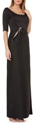 Kay Unger Twist Mikado Column Gown.