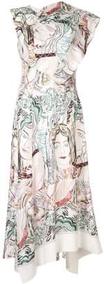 3.1 Phillip Lim Twisted printed asymmetric dress