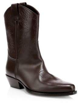 Valentino Slip-On Leather Cowboy Boots