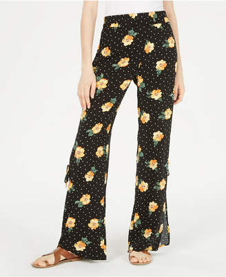 BeBop Juniors' Printed Side-Slit Soft Pants