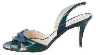 Marc by Marc Jacobs Patent Leather Slingback Sandals