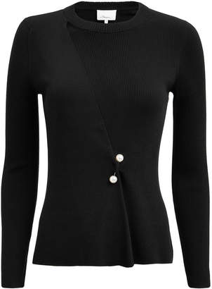 3.1 Phillip Lim Pearl Brooch-Embellished Sweater