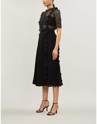 Self-Portrait Short-sleeved lace dress