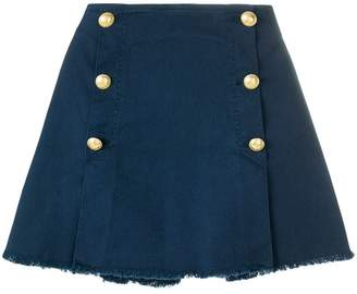 Pinko button embellished A-line skirt