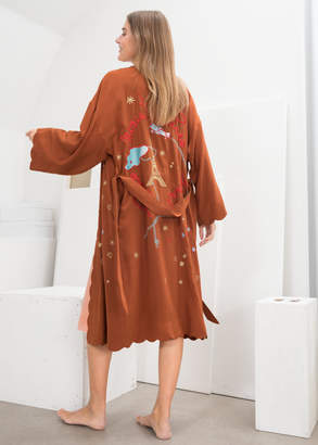 And other stories Scalloped Silk Kimono Robe