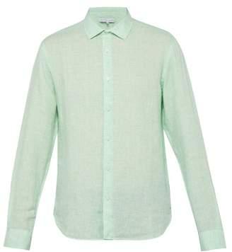 Orlebar Brown Giles Linen Shirt - Mens - Green
