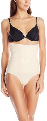 Joan Vass Women's High Waist Tummy Control Brief