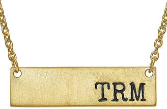 FINE JEWELRY Personalized 9x32mm Initial Monogram Bar Necklace
