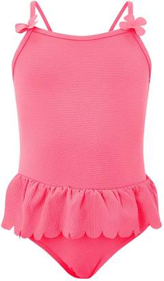Accessorize Girls Textured Frill Swimsuit