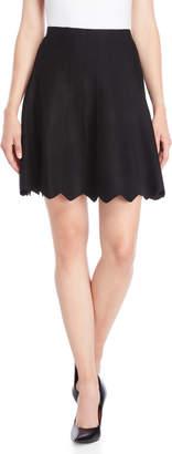 Vila Milano Scalloped Hem Line Knit Skirt