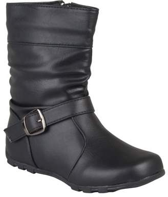 Co Brinley Brinley Girls' Slouchy Accent Mid-calf Boots