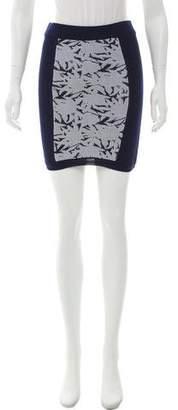 Rebecca Minkoff Rib-Knit Mini Skirt