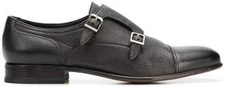 Moreschi double buckle monk shoes