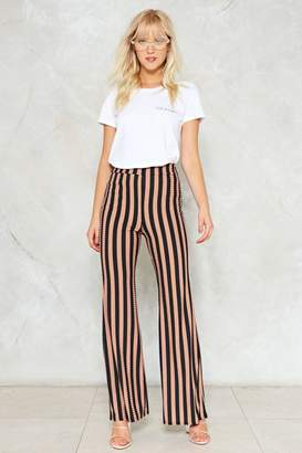 Nasty Gal Flare to the Throne Striped Pants