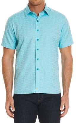 Robert Graham Cullen Squared Regular Fit Short Sleeve Sport Shirt