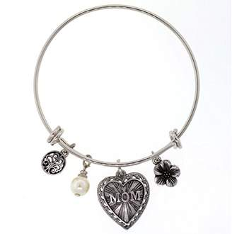 1928 Jewelry Mother's Day Items tone Wire Mom Bracelet