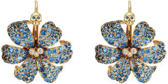 Gucci Flora earrings with sapphires