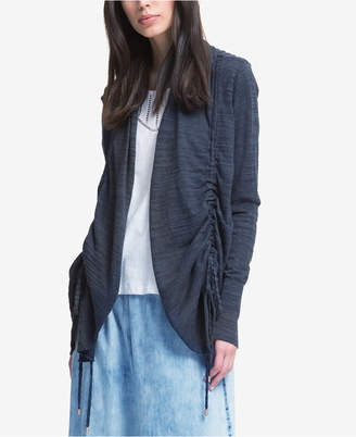 DKNY Open-Front Drawstring Cardigan