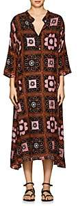 Natalie Martin Women's Isobel Tile-Print Maxi Dress - Brown Pat.