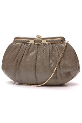 Judith Leiber Beige Exotic leathers Clutch bags