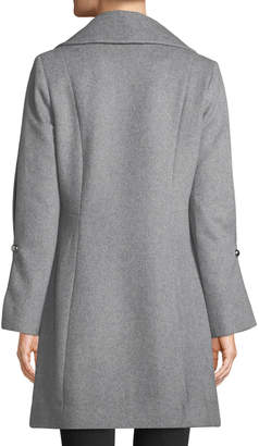 Karl Lagerfeld Paris Wool-Blend Double-Breasted Coat