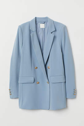 H&M Double-breasted Jacket - Blue