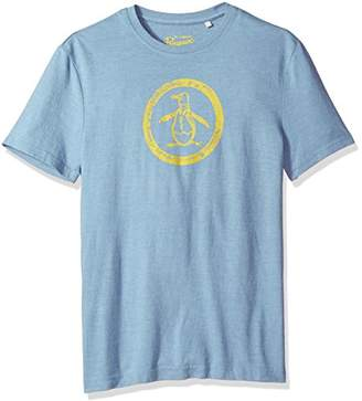 Original Penguin Men's Triblend Circle Logo Tee