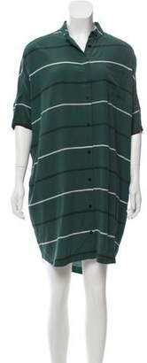 Steven Alan Striped Silk Dress