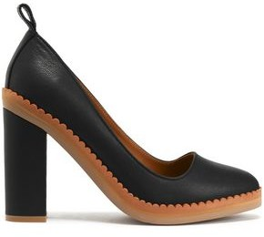 See by Chloe (シー バイ クロエ) - See By Chloé Stasya Scalloped Leather Pumps