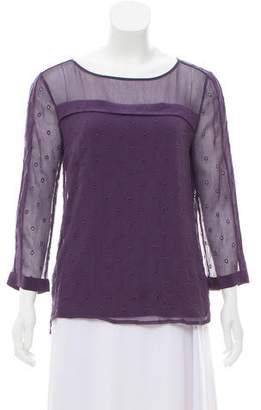 Ella Moss Long Sleeve Broderie Anglaise Top