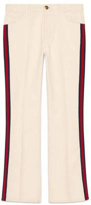Gucci Denim flare trousers with Web