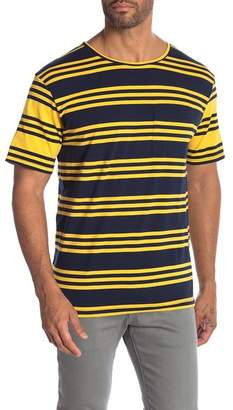 NATIVE YOUTH Contrast Striped Short Sleeve Tee