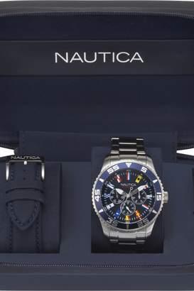 Nautica Mens White Cap Box Set Watch NAPWHC001