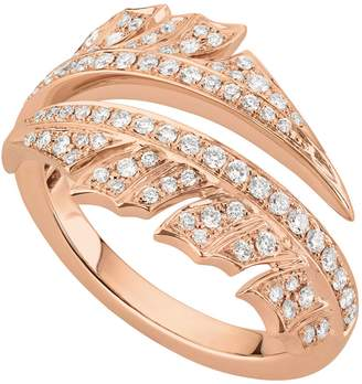 Stephen Webster Rose Gold Magnipheasant Pave Diamond Split Ring