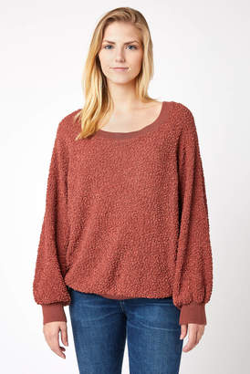Others Follow Miles Billow Sleeve Textured Pullover