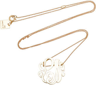 ginette_ny M'Onogram Gold Lace Pendant Necklace