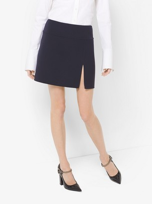 Michael Kors Crepe-Broadcloth Slit Skirt