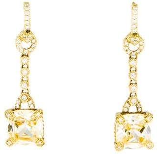 Judith Ripka 18K Diamond & Canary Crystal Drop Earrings