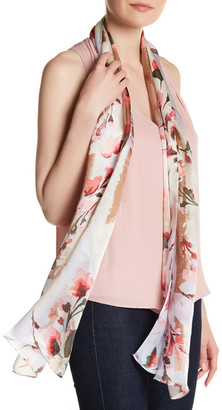 Vince Camuto Foliage and Blooms Silk Oblong Scarf $48 thestylecure.com