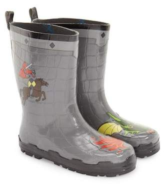 Kidorable 'Dragon Knight' Waterproof Rain Boot (Walker, Toddler & Little Kid)